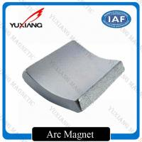 Quality Diametrically Magnetized Neodymium Arc Magnets 54x28x30x35mm Ni Coating for sale