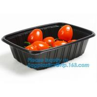 China OEM and ODM custom plastic 2100ml pp 4 compartment plastic food box,disposable food container, plastic plate, plastic cu on sale