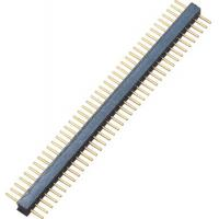 China 1.27 mm Pitch Round Pin Header Single Row 1*40P Straight height 2.2mm length 8.1mm  Connector on sale