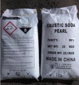 Industrial Sodium Hydroxide Caustic Soda Pearls 99% CAS 1310-73-2 For Bleach