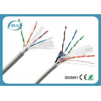 Buy cheap 100% Copper Conductor FTP Cat6 Lan Cable 4 Pairs Low Resistance Data Transmission Cabling product