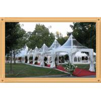 China 6mx6m beautiful gazebo tent /pagoda tent with transparent PVC roof and walls on sale