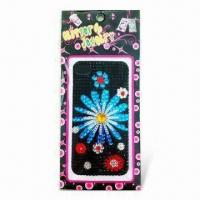 Buy cheap Shinny Sticker with Fashionable Pictures, Safe and Non-toxic, Decorated with Rhinestones product