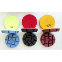 Buy cheap 3inch, 75mm Colourful Concrete Floor Polishing Pads, 11mm thickness from wholesalers