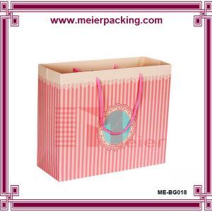 Buy cheap Pink Gift Paper Bag/Environmental foldable shopping bag/ Custom paper garment bags ME-BG018 product