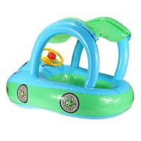 "Buy cheap Cartoon Car Inflatable Float Boat With Sunshade PVC Ring Tube For Infants 30*22"" product"
