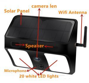 China 1080P PIR Motion LED Light Hidden IP Camera / APP Live Remote Control Light Camera on sale