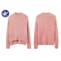 Buy cheap Wool Mohair Melange Womens Knit Pullover Sweater High-Low Side Slit Winter Jumper product