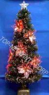 Buy cheap H 120 cm Slim F/O Green Tree Light with Red LED Poinsettia product