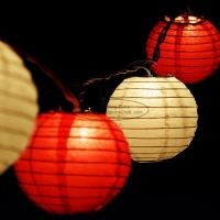 Buy cheap Yellow Led Paper Lantern String Lights 7.5 Cm For Outdoor Trees Decor product