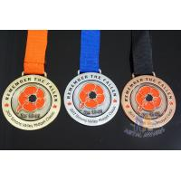 Buy cheap Antique Brass Plating Bespoke Logo Competition Medals Recess Sandblasted Effect product