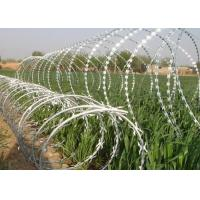 Buy cheap Sharp Razor Wire Barbed Tape BTO - 18 / BTO - 22 for Security Fence product