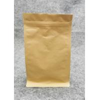 Buy cheap Customized Printed Kraft Stand Up Zipper Pouch Bags For Packaging Easy To Open product