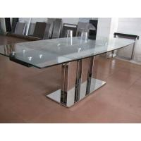 Buy cheap Indoor Furniture Tempering Glass Rectangular Coffee Table Transparent from Wholesalers