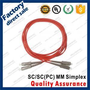 Buy cheap sc-sc/pc optic fiber patch cords om1 4 connectors simplex red pvc lszh sheath jacket mm product
