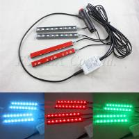Buy cheap bluetooth control car interior atmosphere footwell lights lamp 17cm rgb led strip product