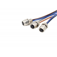 Buy cheap 4 Pin M8 Socket 100mm Industrial Wiring Harness product