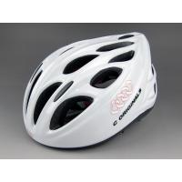 Solid White Bmx Adult Bicycle Helmet Mens Abs Shell 18 Aerodynamic Vent Holes