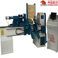 Buy cheap CNC wood lathe center for turning ,engraving ,smoothening  withautomatic feeding system CE to make wood working product