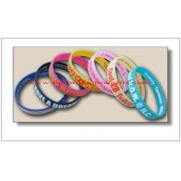 China Personalized Rubber Bracelets on sale