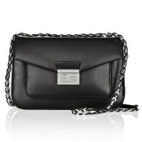 Buy cheap Italian Made Luxury Genuine Calf Leather Hobo Leather Handbags Silver Long Chain product