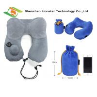 Buy cheap Airplane Sleeping Inflatable Travel Pillow With High Grade Crystal Velvet Fabric Material product