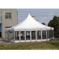 Buy cheap Polygon Transparent Glass Wall wedding canopy tent high peak Aluminum Frame from Wholesalers
