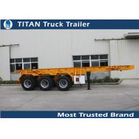 Quality 30 Ton 20 feet skeletonshipping container chassis with 3 axles 7,000*2,480*1,550 mm for sale