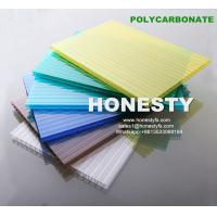 Buy cheap fire retardant hollow plastic sheet 4mm 6mm 8mm 10mm hollow polycarbonate sheet Foshan Honesty polycarbonate sheet product