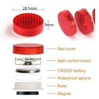 Buy cheap Car Door Warning Light with Red Strobe Flashing Led Open Safety Lights Reflecto LED Lamps Magnetic Waterproof Wireless product