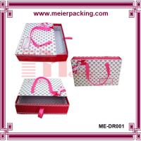 Buy cheap Ribbon shopping paper shoe box, carrier paper drawer slide clothing box ME-DR001 product