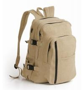Black 600D Nylon school bag
