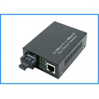 Buy cheap 10 / 100Mpbs SC Optical Network Media Converter 20KM Single Mode 9 / 125um Type product