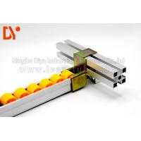 China Assemble Line Roller Track Conveyor , Small Roller TrackYellow Color on sale