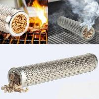 Buy cheap 6 Inches Round Stainless Steel Pellet Smoker Tubes ,bbq smoking tubes,bbq smoker tube,bbq tube,bbq accessories product