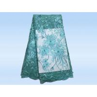 Buy cheap Nigeria Lace Tulle Based Embroidery Sequin Lace Apparel Fabric colorful swiss voile lace product