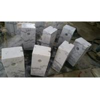 Buy cheap Guangxi White Marble Car Packing Stone China Carrara White Marble Packing Barriers product