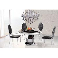 Quality Contemporary Marble Round Dining Table with Chair Dining Set Factory Wholesale for sale