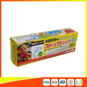 Vegetable Fresh Keeping Freezer Zip Lock Bags  , Plastic Zip Storage Bags