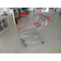 Buy cheap 100L Low Tray Supermarket European Steel Shopping Trolley With Anti UV Plastic Parts product
