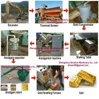Buy cheap Mobile small scale mini alluvial gold drum screen for river gold washing from wholesalers