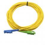 Buy cheap Single Mode APC Patch Cord E2000 SX SM LSZH , SC UPC Simplex Fiber Optic Cable product