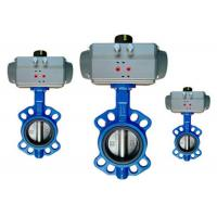 Quality Flange / Wafer Type Butterfly Valve Actuator Pneumatic Operated DN40 ~ DN600 for sale