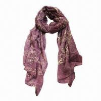 Quality Voile Long Scarf, Made of Cotton  for sale