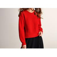 Buy cheap Lady Joyous Chinese Red Crew Neck Winter Jumper product