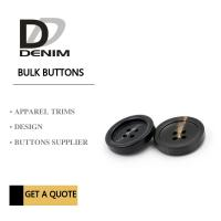 Buy cheap Plastic Resin 4 Hole Plastic Button For Khaki Double - Breasted Trench Coat product