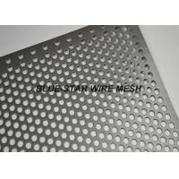 Buy cheap Fencing / Gate Aluminium Perforated Metal Sheet / Coil With 45 60 90 Degree Punching Hole product