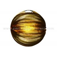 Goldfoil Paper Luxury Accordion Paper Lanterns Round Shape For Party Decoration