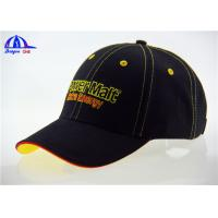 OEM Cotton Custom Baseball Caps with Contrast Sandwich and Eyelets , Fashion Baseball Cap