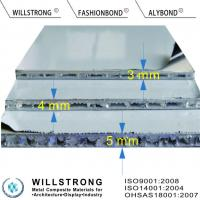 Buy cheap AHP Aluminium Honeycomb Composite Panels Fire Rated A2 4mm Thick product